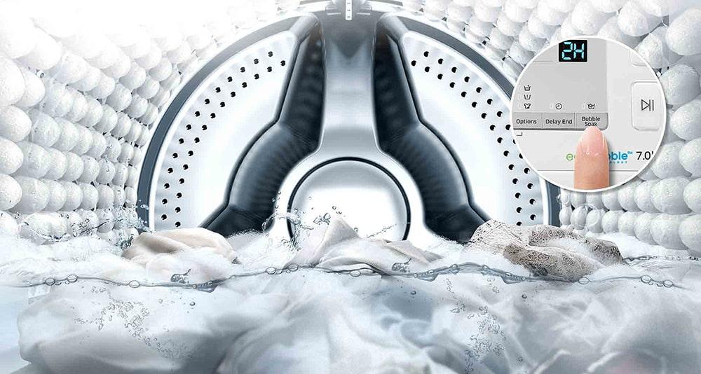لباسشویی 7 کیلویی سامسونگ مدل W70 نقرهای (5)