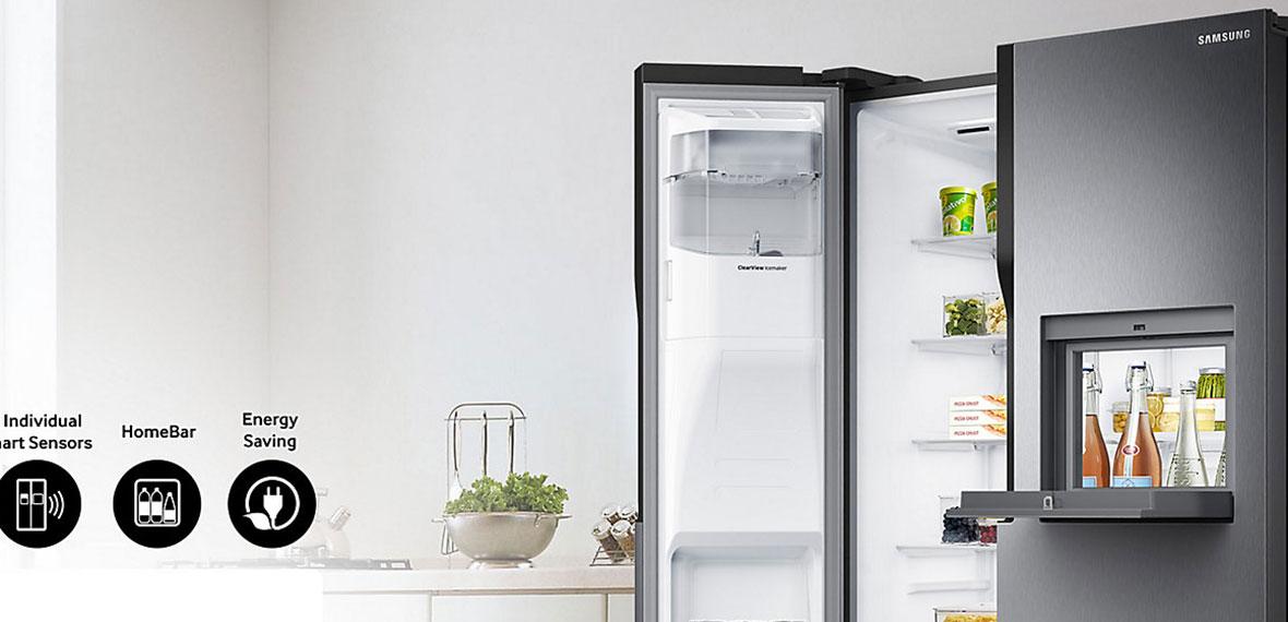 مشخصات و قیمت یخچال ساید بای ساید سامسونگ RS51 (1)-min