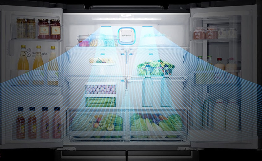 یخچال فریزر ساید بای ساید ال جی مدل X29 (1)