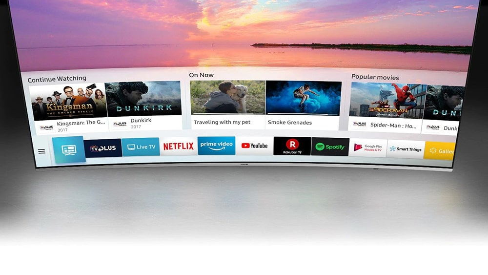 تلویزیون 4K HDR منحنی سامسونگ مدل NU8500 سایز 55 اینچ (1)